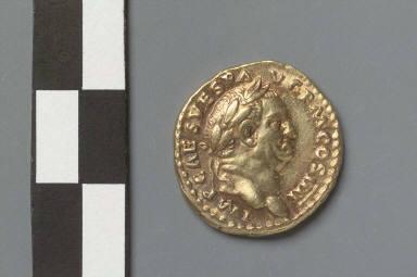 Aureus with bust of Vespasian