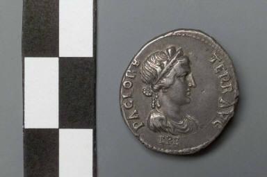 Denarius with head of Vespasian