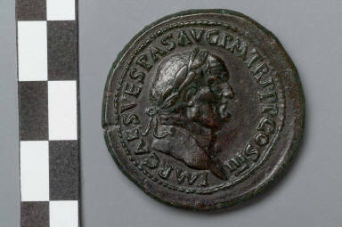 Sestertius with bust of Vespasian