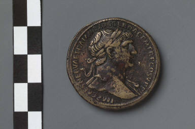 Sestertius with bust of Trajan