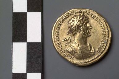 Aureus with bust of Hadrian