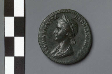 Dupondius with bust of Sabina