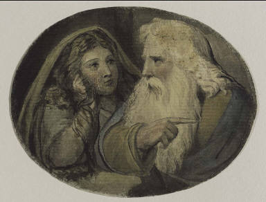 Lear and Cordelia (Illustration to Shakespeare)