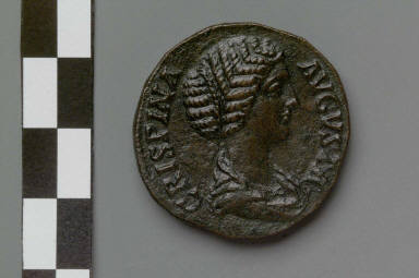 Sestertius with bust of Crispina