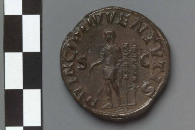 Sestertius with bust of Maximus