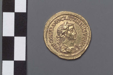Aureus with bust of Diocletian