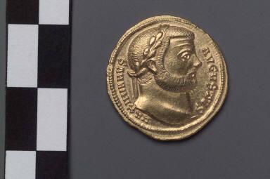 Aureus with head of Maximianus Herculeus