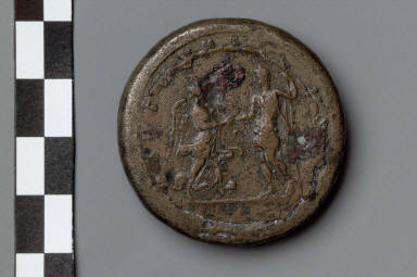 Bimetallic medallion with bust of Gallienus