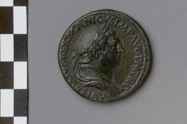 Sestertius with bust of Vitellius