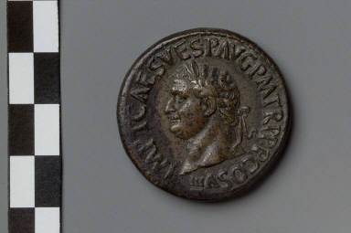 Sestertius with head of Titus