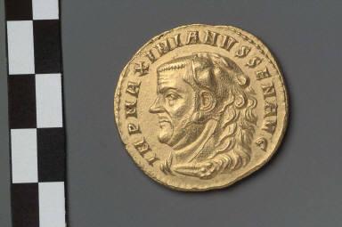 Medallion (four aurei) with bust of Maximianus Herculeus