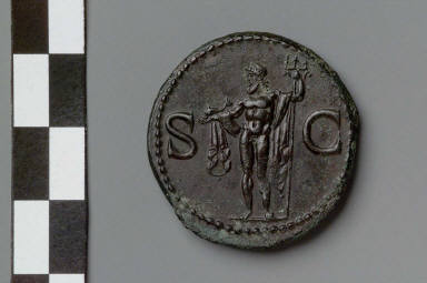 Dupondius with head of Agrippa
