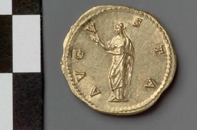Aureus with bust of Faustina I