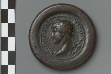 Medallion with bust of Hadrian