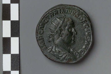 Double sestertius with bust of Trajan Decius