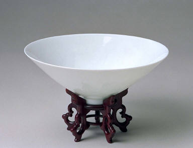 One of a pair of bowls in the Ming style