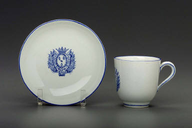 Cup and saucer with the arms of the Bourbon-Condé family