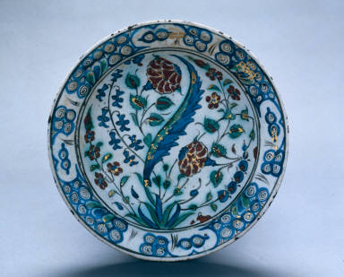 Dish with Flowers and Leaves
