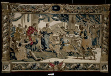 Cupid disguised as Aeneas's son, presents gifts to Dido