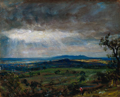 Hampstead Heath with Harrow in the Distance