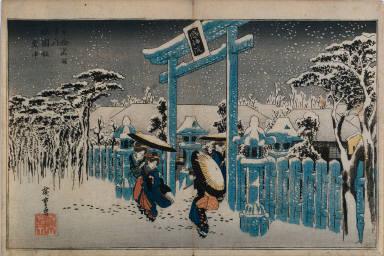 Snow at the Gion Shrine