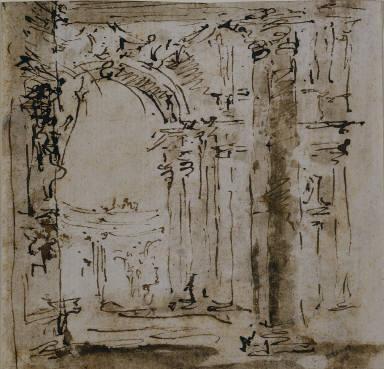 [Sketch for a Loggia, Architectural Sketch, Studio per il Labirinto della Villa Pisani, Sketch of the Labyrinth of the Villa Pisani]