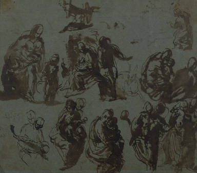 [Studies of the Virgin and Child with Sts. John the Baptist and Joseph, Studies of the Virgin and Child, The Rest on the Flight into Egypt]