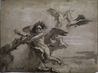 [Cupid Blindfolded and Two Doves, Cupid Blindfolded with Two Doves]