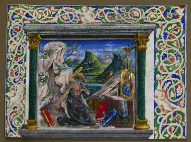 Miniature Excised from a Manuscript: St. Jerome in the Wilderness