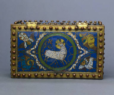 Reliquary Casket with Champlevé Enamels of Sharp Colors