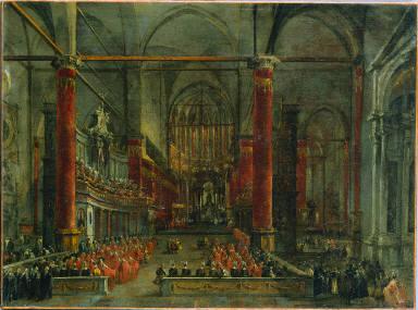 Pontifical Ceremony in SS. Giovanni e Paolo, Venice, 1782