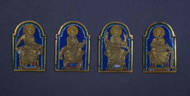 Plaque with Seated Prophet from a Reliquary Shrine: Esais (Isiah)