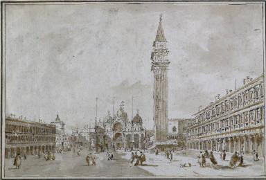 [Piazza S. Marco con Basilica e Campanile, Piazza San Marco, Venice]