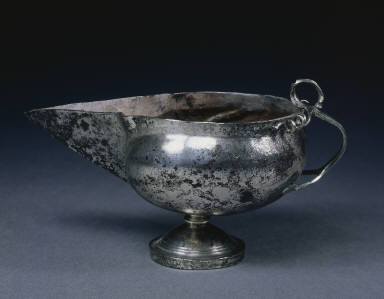 [Ewer with Balustrade Stem, Sauce Boat (or Lamp?), Spouted Pitcher]