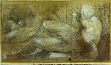 [River Gods, Two Reclining Male Nudes, Three Reclining Male Nudes, Study for Moses and the Israelites Drinking, Three Male Nudes]