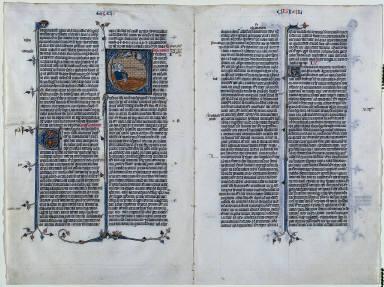 Bifolio from a Latin Bible: Ezekiel