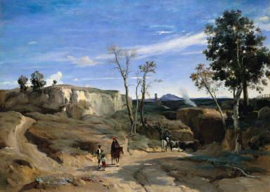 [The Roman Campagna with Mount Soracte, La Cervara, the Roman Campagna (La Cervara. Campagne de Rome)]