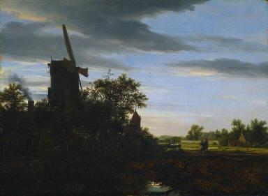 A Windmill near Fields
