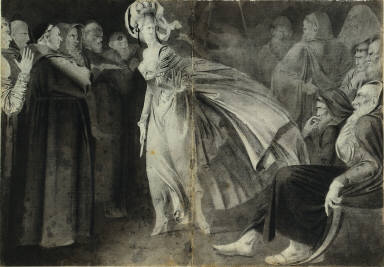 Woman Standing Among the Friars