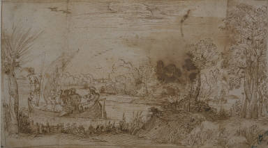 [Landscape with a Boat, River Landscape with Boats]