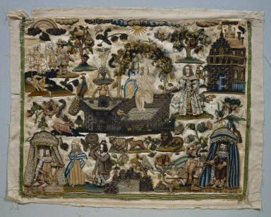 Stumpwork Panel: Story of David and Bathsheba
