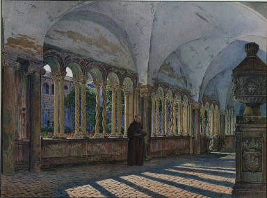 View of the Cloister of San Giovanni in Laterano, Rome