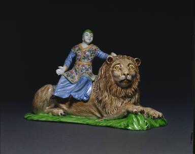 Figure Seated on a Lion