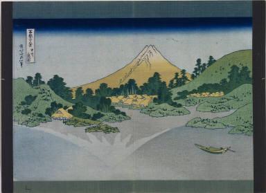 Thirty-Six Views of Mt. Fuji: The Surface of Lake Misaka in Kai Province
