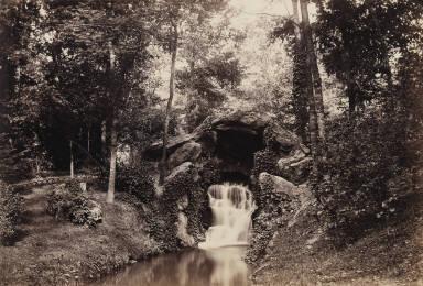 [Vue de la petite grotte vers mare aux biches, Bois de Boulogne, View of the Small Grotto toward the Deer Pond, Bois de Boulogne]