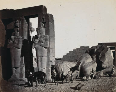 Fallen Statue at the Ramesseum, Thebes