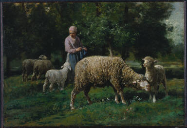 [Shepherdess with Sheep, Shepherdess with Sheep]