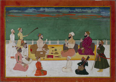 Group Portrait of Rajas Surrounded by the Courtly Retinue
