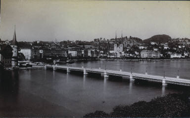 Untitled (Bridge with Town in Distance)