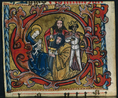 [Three Cuttings from a Missal: Initial C with the Adoration of the Magi, Cutting from a Missal: Initial C with the Adoration of the Magi]
